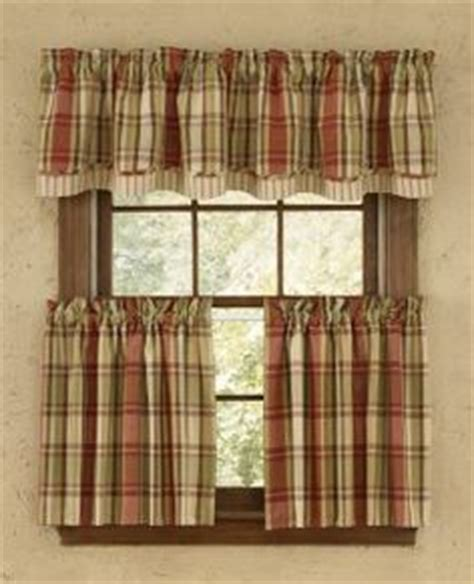 red green curtains kitchen curtains plaid and curtains on pinterest