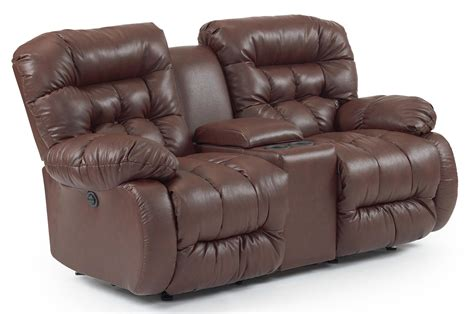 rocker reclining loveseat with drink console by best home