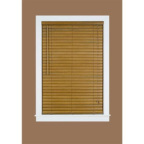 woodgrain 2 in light filtering vinyl mini blind 35