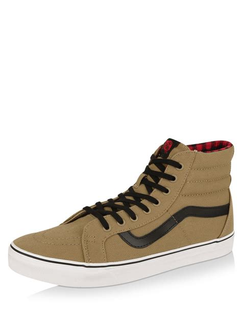 Vans Sk8 High Quality Casual Made In buy vans sk8 hi reissue trainers in khakhi for s green brown casual shoes in india