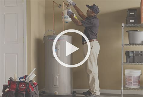 steps to install a electric water heater at the home depot
