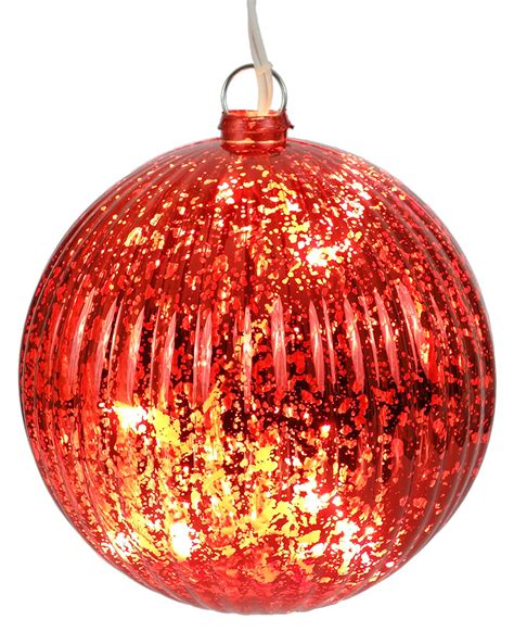 Lighted Christmas Balls by Lighted Red Ball Christmas Ornament Traditions