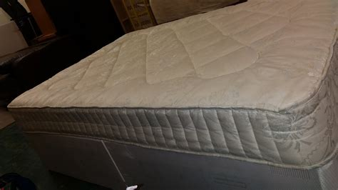 double futon matress double divan bed with mattress 135x190x37 used furniture