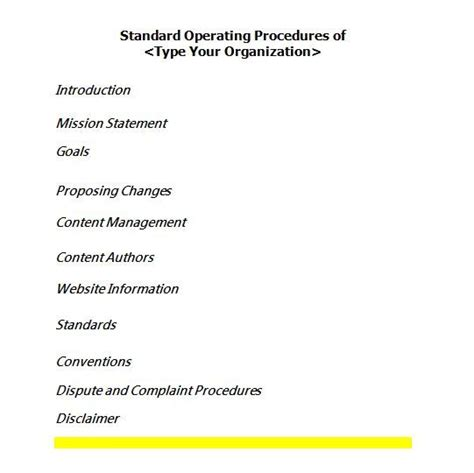 how to prepare a sop format best 25 standard operating procedure ideas on