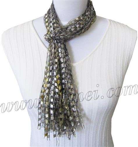 Handmade Scarves Patterns - handmade ribbon yarn scarves at numei yarn numei