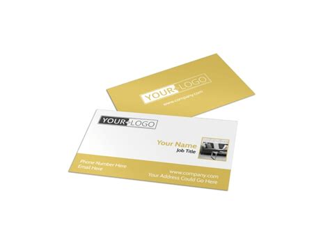 furniture interior design business card template