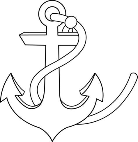 anchor line art free clip art