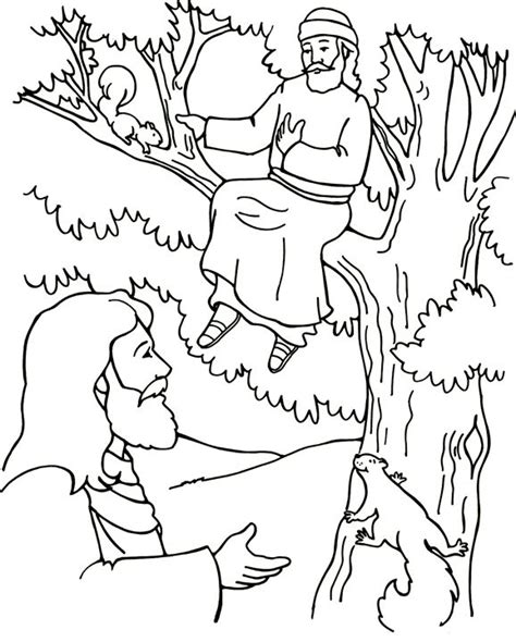 free coloring pages of zacchaeus
