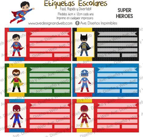 Sticker Stiker Label Nama Dc Superman Lego Etc heroes marvel etiquetas para por avedisenoimprimible