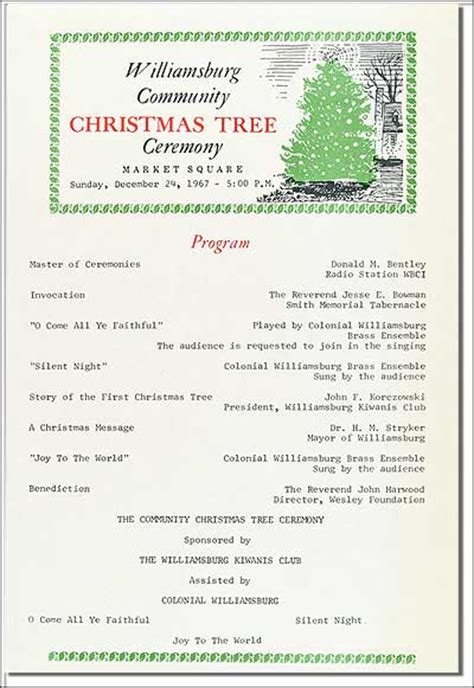 christmas program template the community tree in america s hometown the colonial williamsburg official history