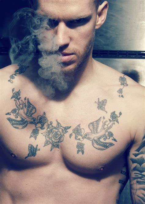 rose swallow tattoo bird with tattoos on chest tattooshunt