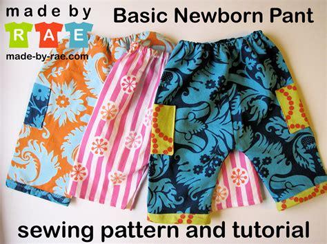 free pattern baby pants free rae s basic newborn pant sewing pattern made by rae