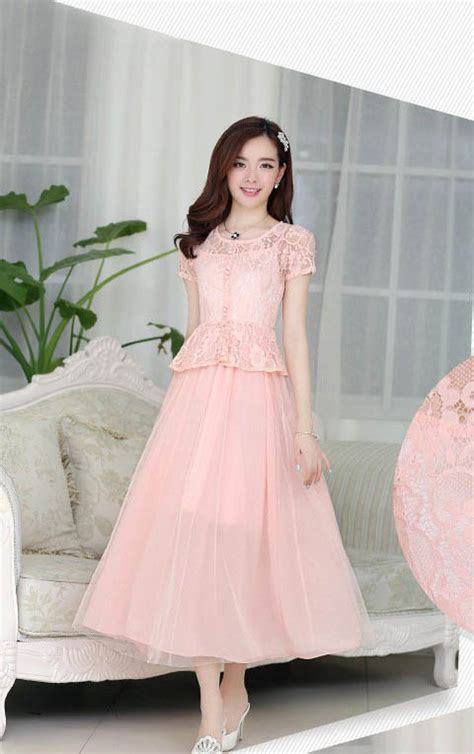 Dress Pesta Import Anak Pink model dress brokat terbaru hairstyle gallery