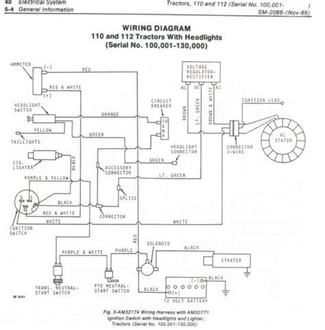 lt190 deere 110 wiring diagram deere l110 wiring