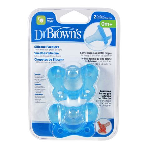 Dijamin Dr Brown Silicone Pacifier silicone pacifier 2 pack 0m dr brown s