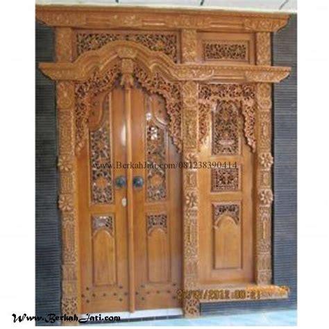 Gebyok Pintu Gebyok Ukir Jawa Pintu Rumah Kusen pintu gebyok ukiran mewah berkah jati furniture berkah