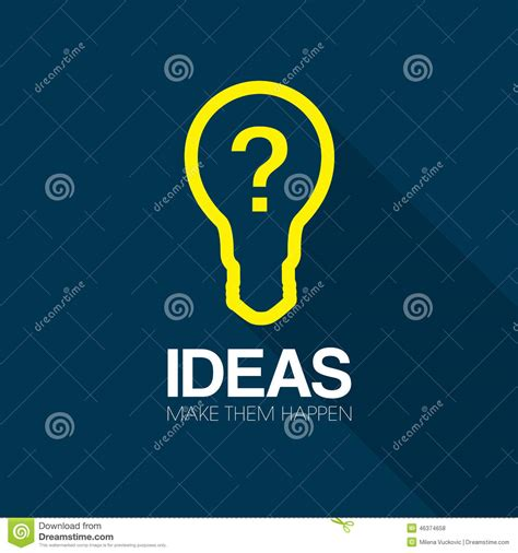 inspiration ideas ideas and inspiration stock vector image 46374658