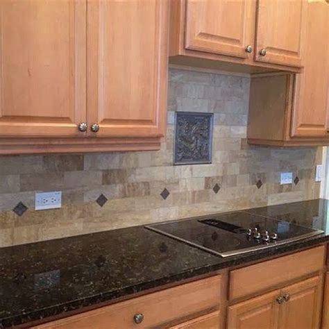 3x8 walnut vein cut subway travertine backsplash