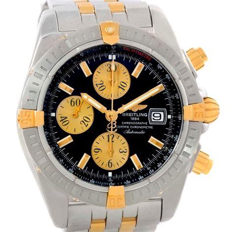 breitling chronomat steel 18k yellow gold b13356 unworn
