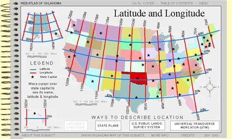 latitude longitude map usa latitude and longitude in the usa