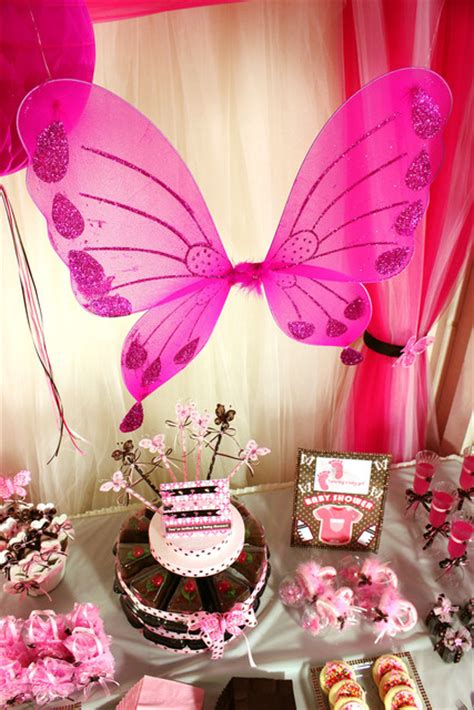 Brown And Pink Butterfly Baby Shower Decorations by Pink And Brown Butterfly Baby Shower Ideas Photo 2