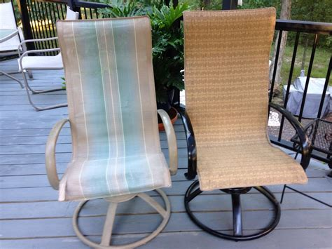 Patio Furniture Slings And Installing New Slings For Homecrest Style Patio Chairs Sharsum S Great Finds