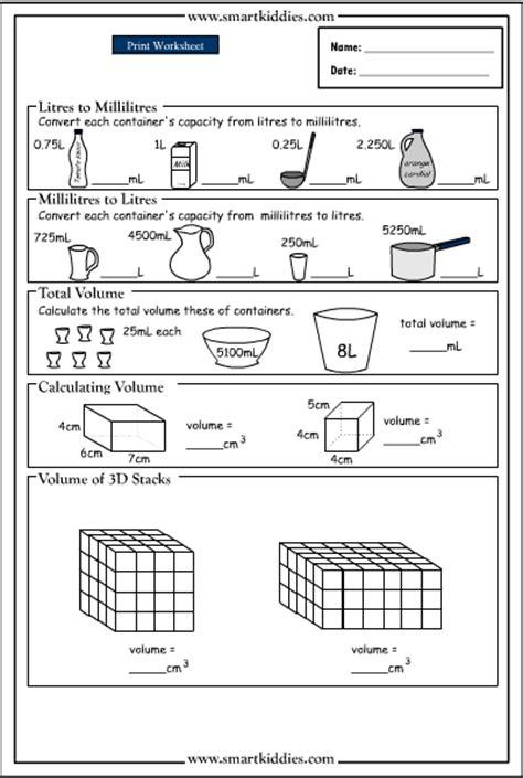 printable volume games all worksheets 187 capacity worksheets grade 4 printable