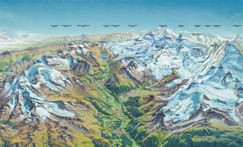 trek maps  monterosa thealpscom