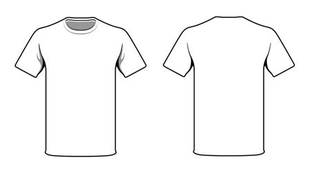 white t shirt blank template