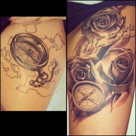 compass tattoo on thigh thigh tattoo designs compass tattoo designs tattoos