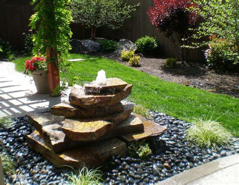 Backyard Water Features Ideas Backyard Water Fountains Ideas Design Ideas