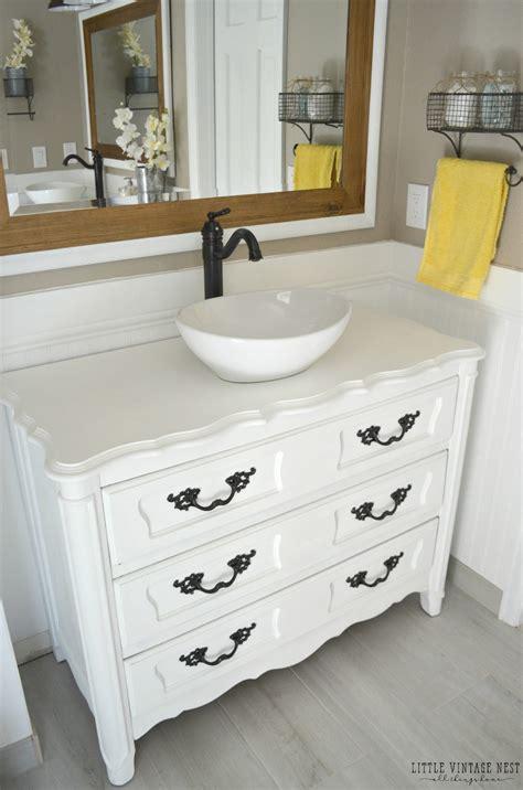 dresser turned bathroom vanity tutorial