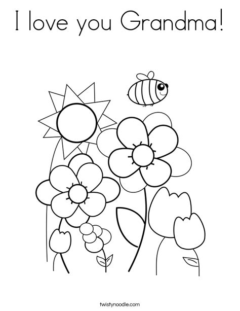 coloring pages i love grandma i love you grandma coloring page twisty noodle