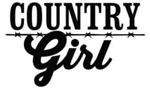 Country girl wall quotes decal wallquotes com