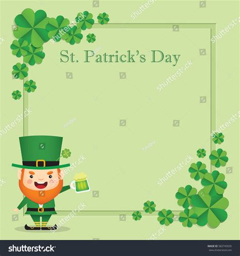s day card template photos 17 march st patricks day greeting stock vector 582743035