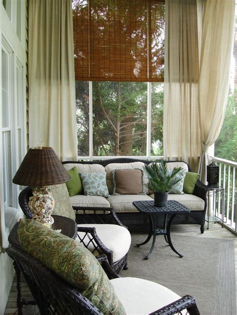 screened in porch curtains 1000 ideas about screened porch decorating on pinterest