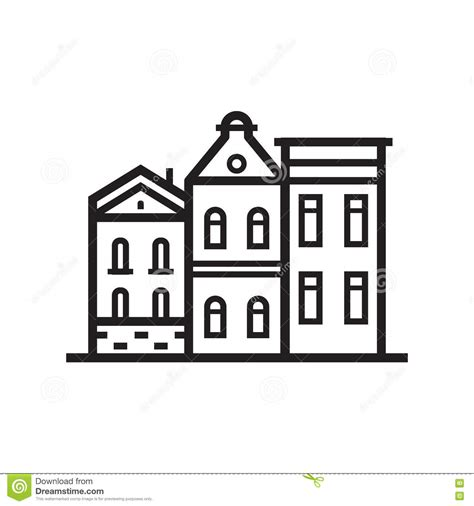 and house emblem stock vector image of city