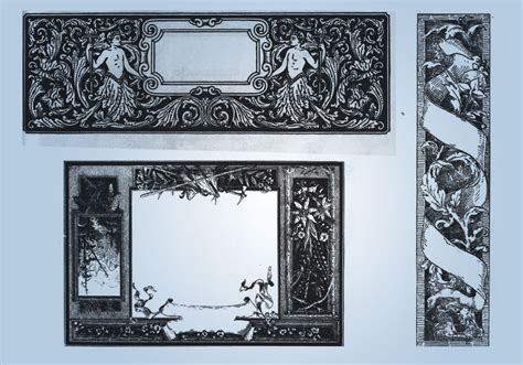 excellent ornate borders  photoshop brushes