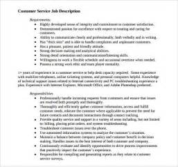 Customer Care Representative Description by Sle Customer Service Representative Resume 9 Free Documents In Pdf