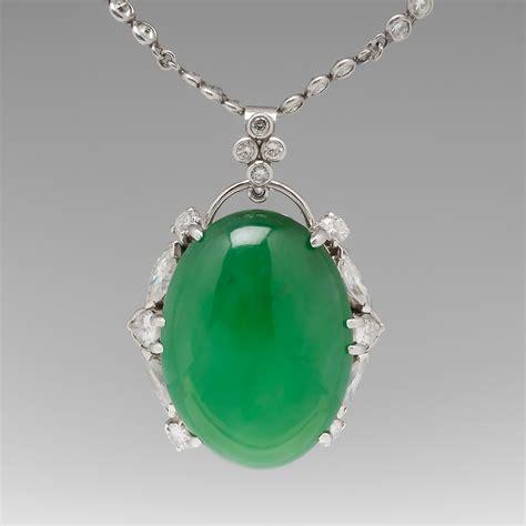 Jade Pendant Necklace 24 carat jadeite jade and pendant and chain