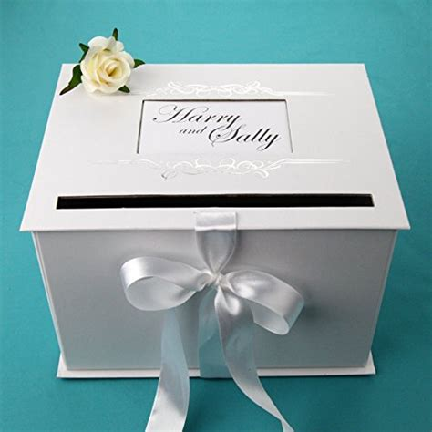 Gift Card Box For Wedding Reception - decorative boxes wedding gift card box reception white silver beautifully design ebay