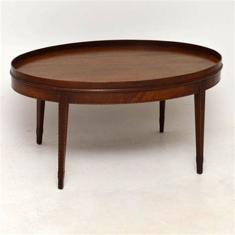 antique inlaid mahogany coffee table marylebone antiques
