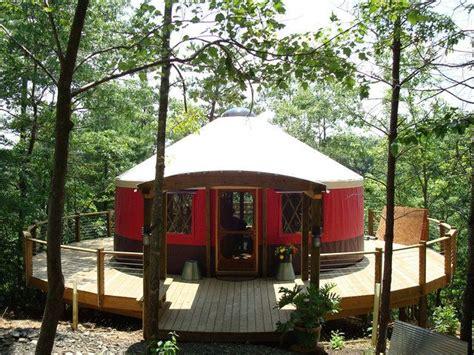 love yurts love the deck yurts pinterest