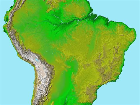 topographical map of south america south america topographic map
