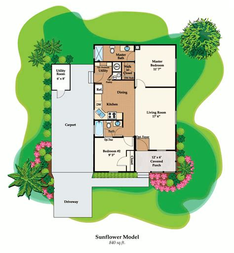 model g floorplan 840 sq ft century village at the sunflower affordable retirement homes crf
