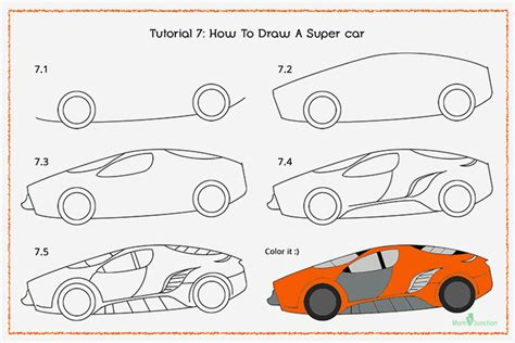 how to draw a car step by step pencil drawing how to draw ᗛ a a car step by step for ga56