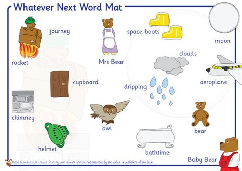 Space Word Mat by S Pet Whatever Next Free Classroom Resources