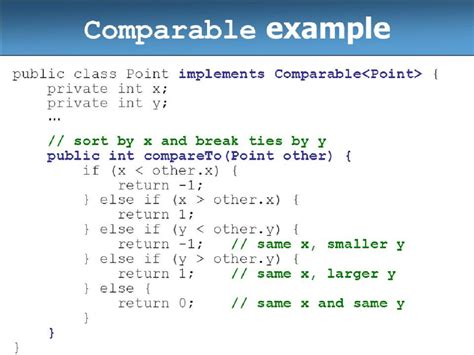 java comparable exle for natural order sorting