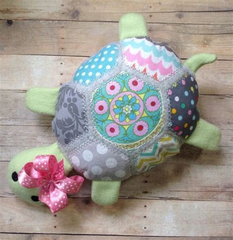 Patchwork Animals - patchwork turtle plush stuffed animal woodland gift