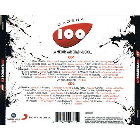 cadena 100 lista 2016 los numeros uno de la cadena 100 cd1 mp3 buy full tracklist